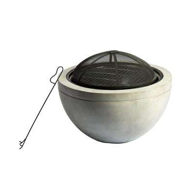 30 in. x 22.83 in. Round Wood Burning Outdoor Concrete Fire Pit
