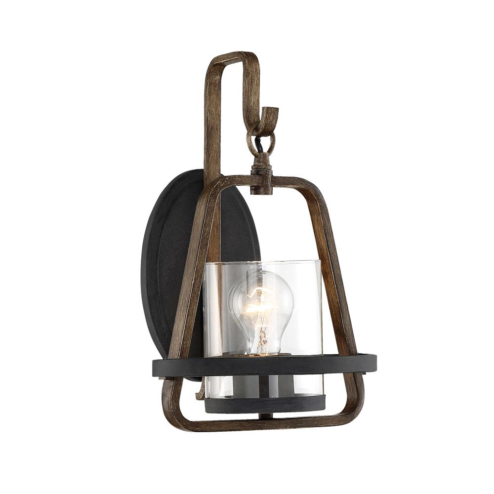Designers fountain ryder 1 light forged black interior wall sconce