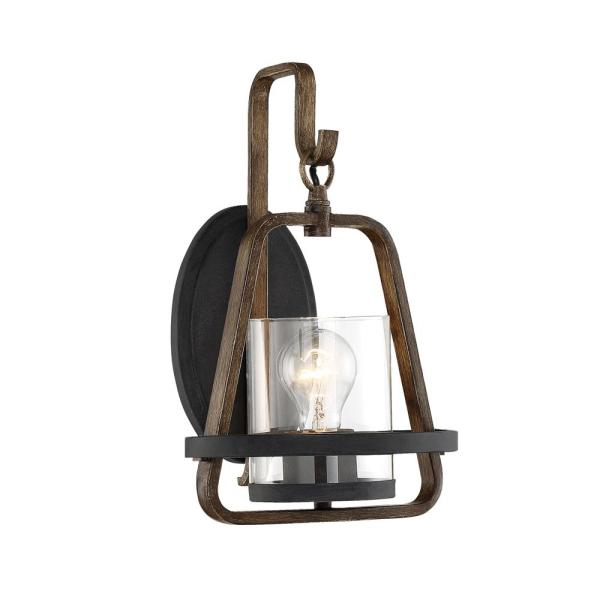 Ryder 1-Light Forged Black Interior Wall Sconce