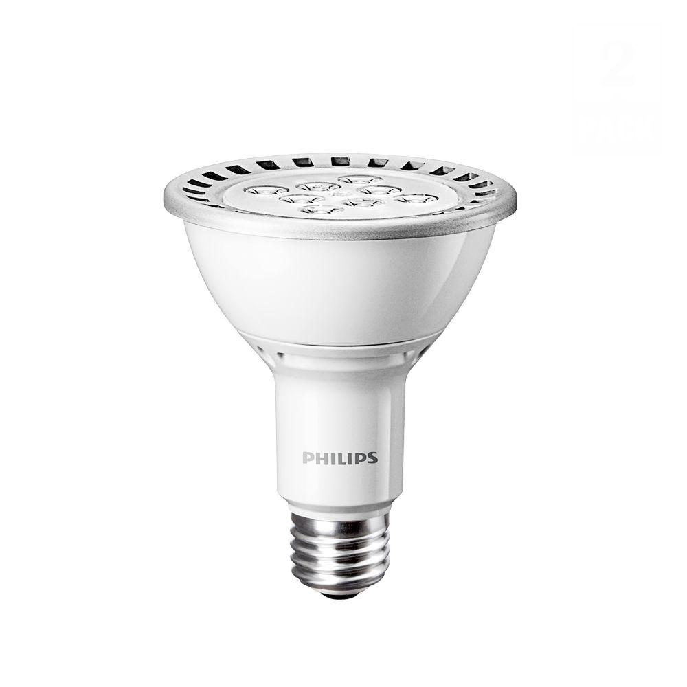 Philips 75W Equivalent Daylight (5000K) PAR30L Dimmable LED Flood Light Bulb (2-Pack)