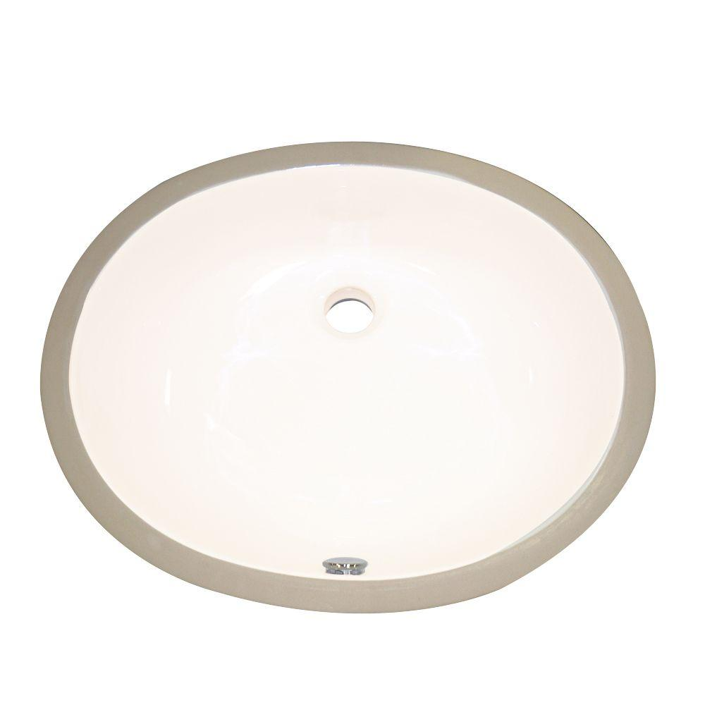 Decolav Undermount Vitreous China Bathroom Sink With Overflow In Biscuit