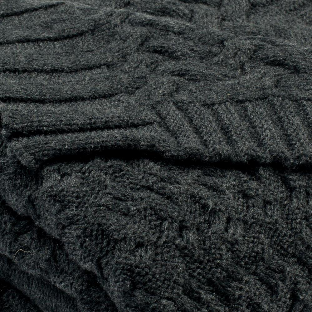 Safavieh Affinity Knit Dark Grey Throw