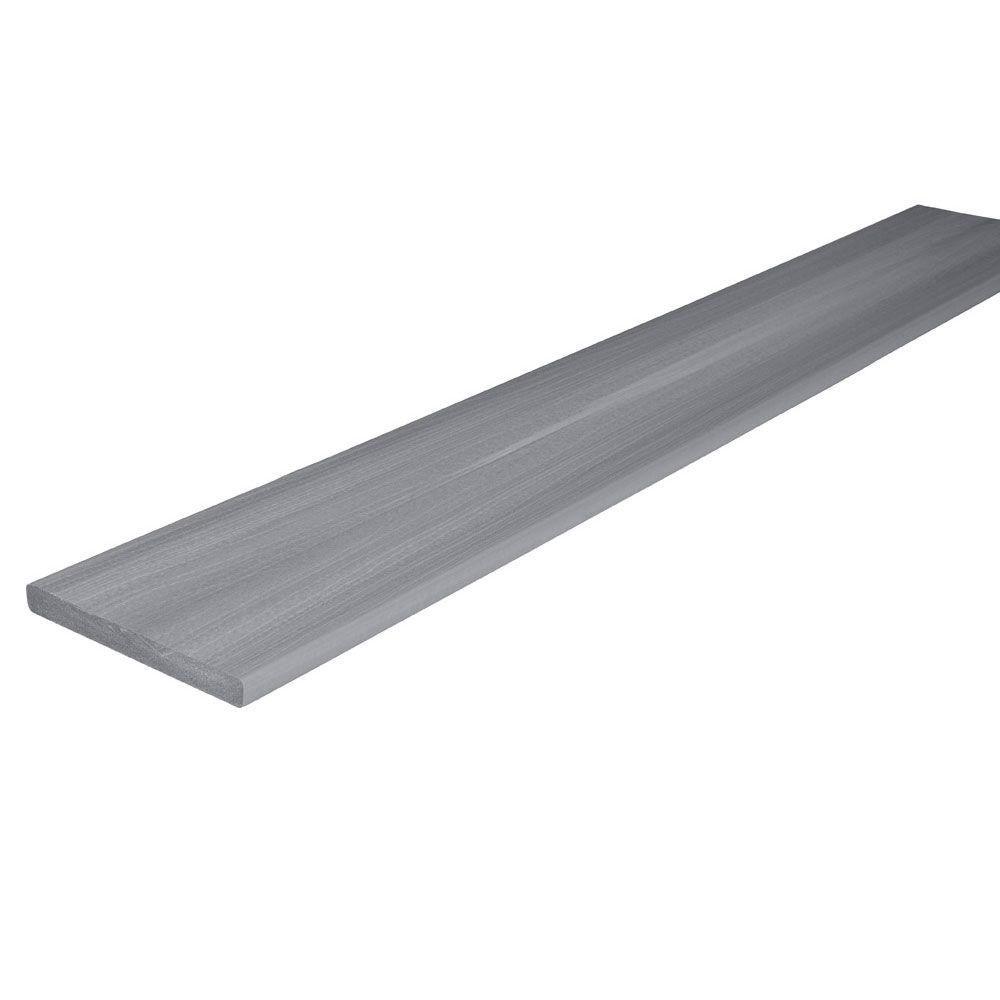 Fiberon horizon 3 4 in x 7 1 4 in x 12 ft castle gray for Capped composite decking prices