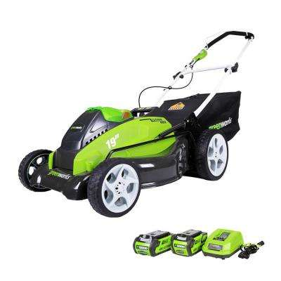 G-MAX 19 in  40-Volt Lithium-Ion Cordless Battery Walk Behind Push Lawn  Mower - Battery/Charger Included