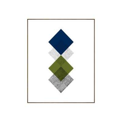 "31.25 in. x 25.25 in. ""Concentric II"" by Bobby Berk Printed Framed Wall Art"