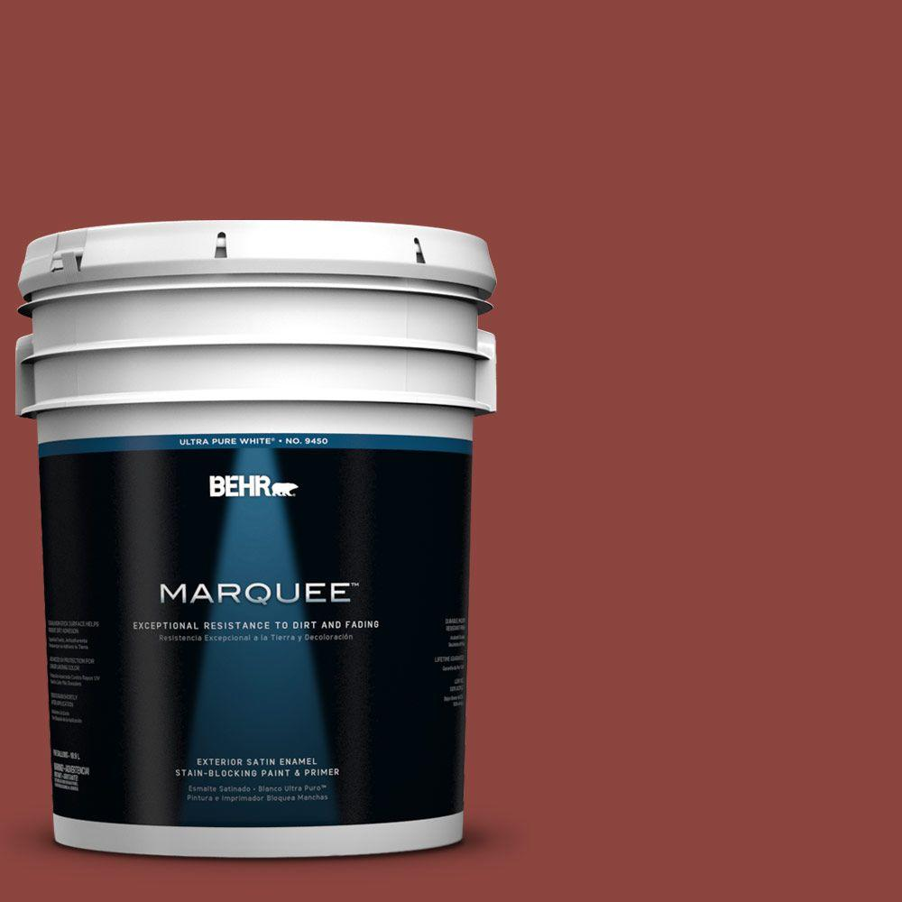BEHR MARQUEE 5-gal. #180D-7 Roasted Pepper Satin Enamel Exterior Paint