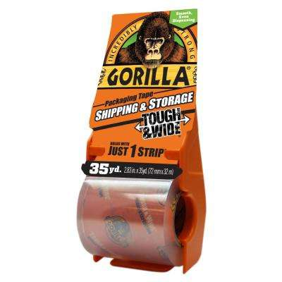 2.83 in. x 35 yds. Shipping Tape with Dispenser (4-Pack)
