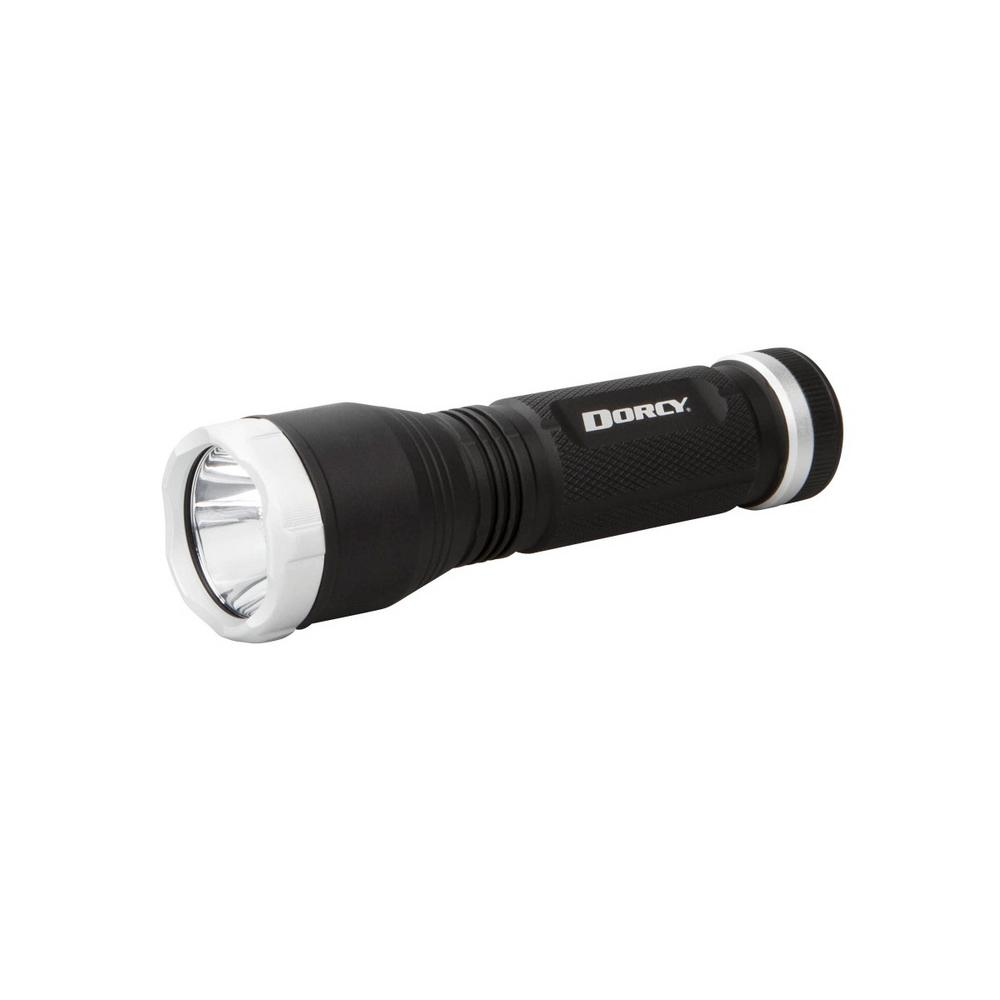 Ultra HD Series Battery Powered 220 Lumens Aluminum Flashlight in Black