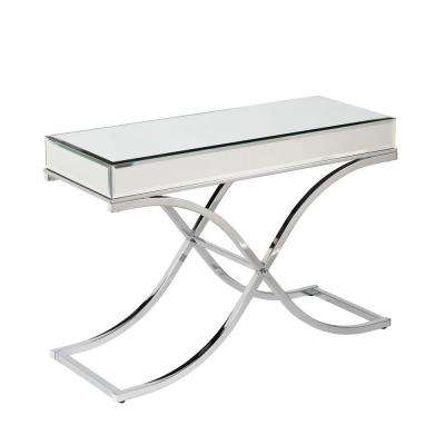 Alice Chrome Mirrored Console Table