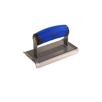 6 in. x 3 in. Curved End Concrete Edger with Comfort Wave Handle