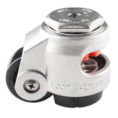 2 in. Nylon Cast Stainless Steel Wheel Stem Leveling Caster with Load Rating 550 lbs.
