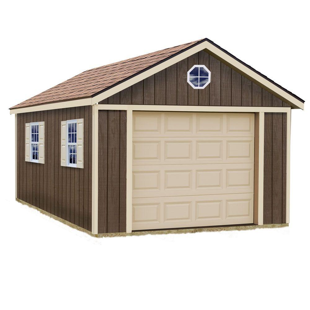 Best barns sierra 12 ft x 24 ft wood garage kit without for Garage plans with storage