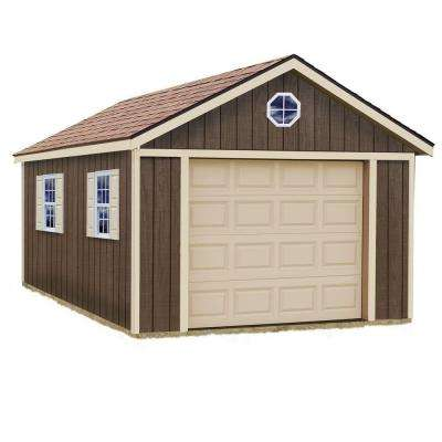 Sierra 12 ft. x 24 ft. Wood Garage Kit without Floor
