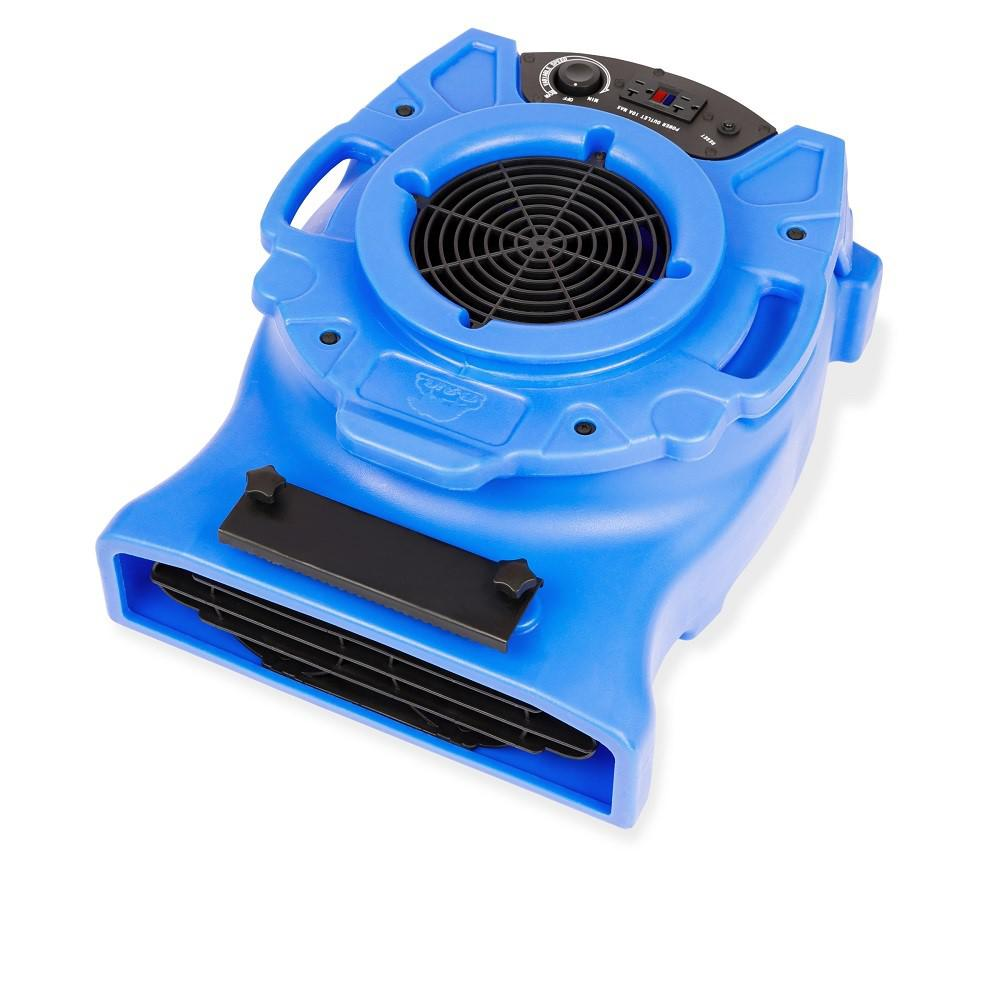 B-Air 1/4 HP Low Profile Blue Air Mover Blower Fan for Water Damage Restoration Carpet Dryer Floor