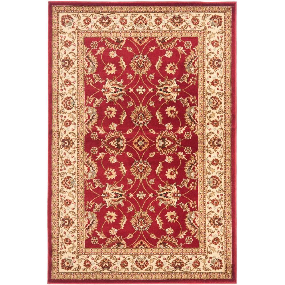 Lyndhurst Red/Ivory 3 ft. x 5 ft. Area Rug