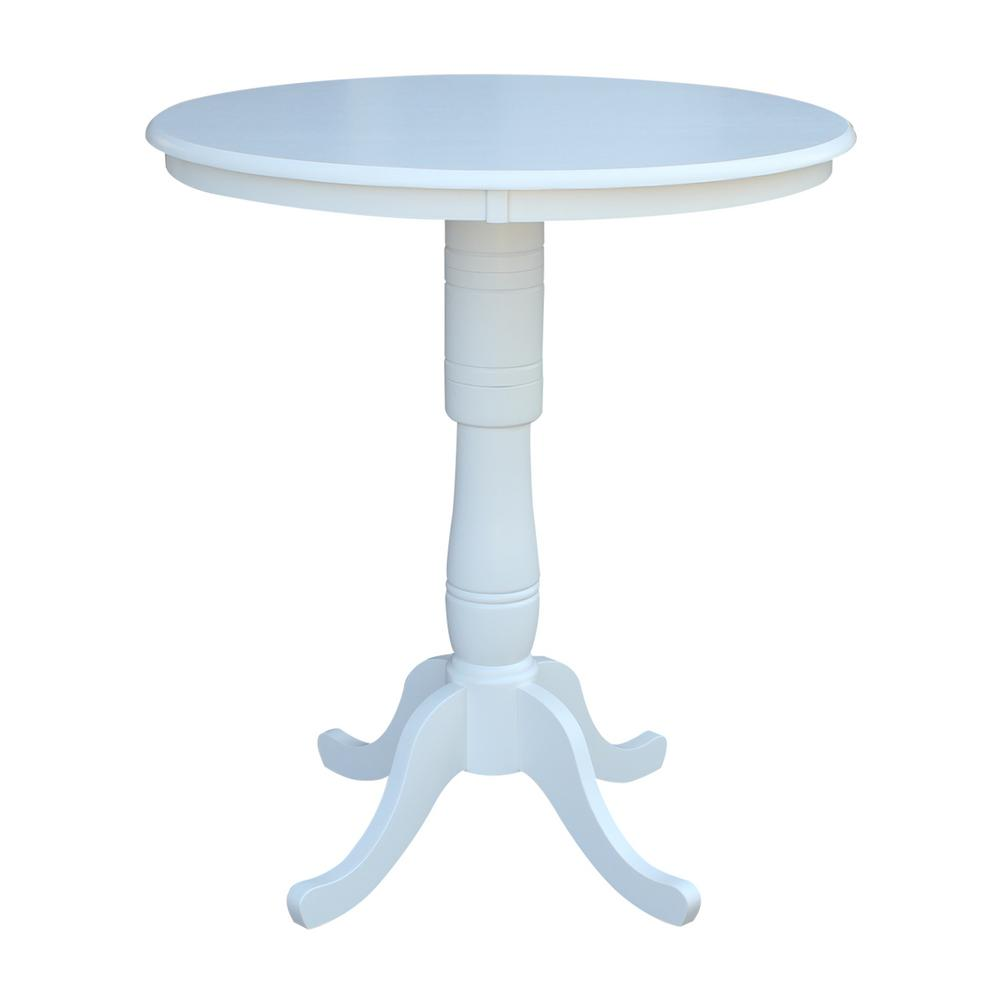 International Concepts Hampton Pure White Round Pub Table