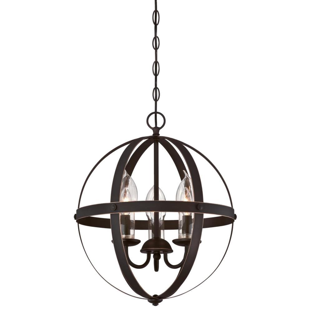 Westinghouse Stella Mira 3-Light Oil Rubbed Bronze with Highlights Outdoor Hanging Chandelier