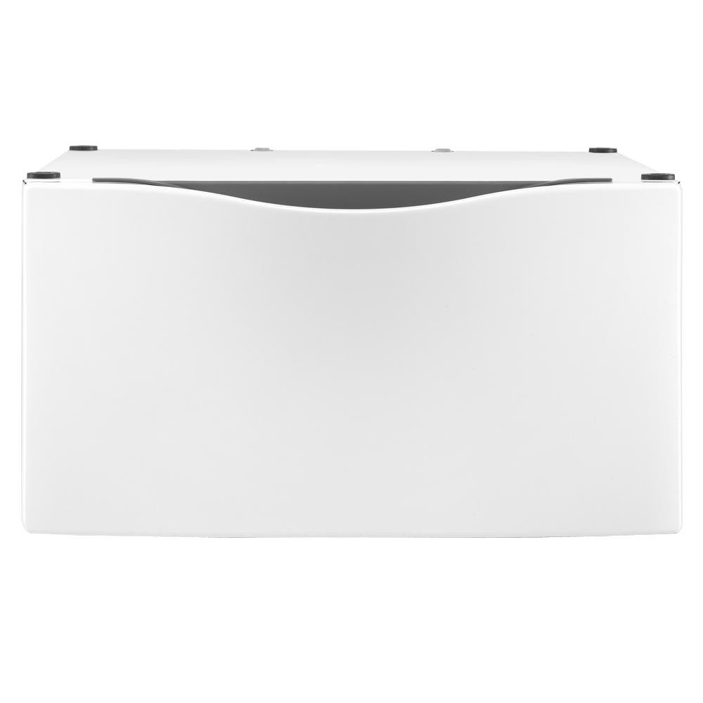 Laundry 123 15 in. Laundry Pedestal with Storage Drawer in White