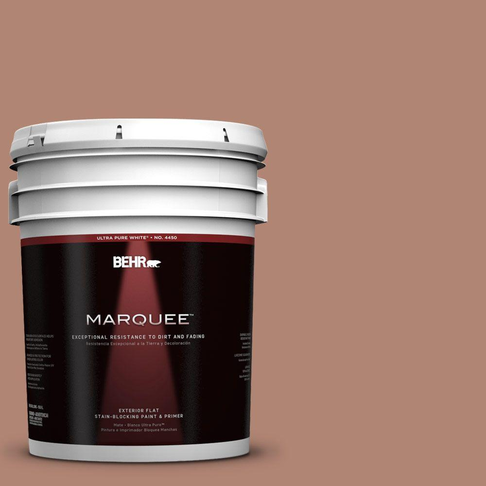 BEHR MARQUEE 5-gal. #220F-5 Light Mocha Flat Exterior Paint