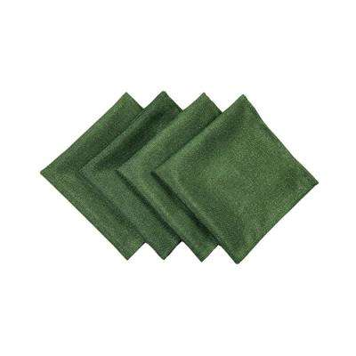 20 in. x 20 in. Pine Green Gala Glistening Easy Care Solid Color Napkins (4-Set)