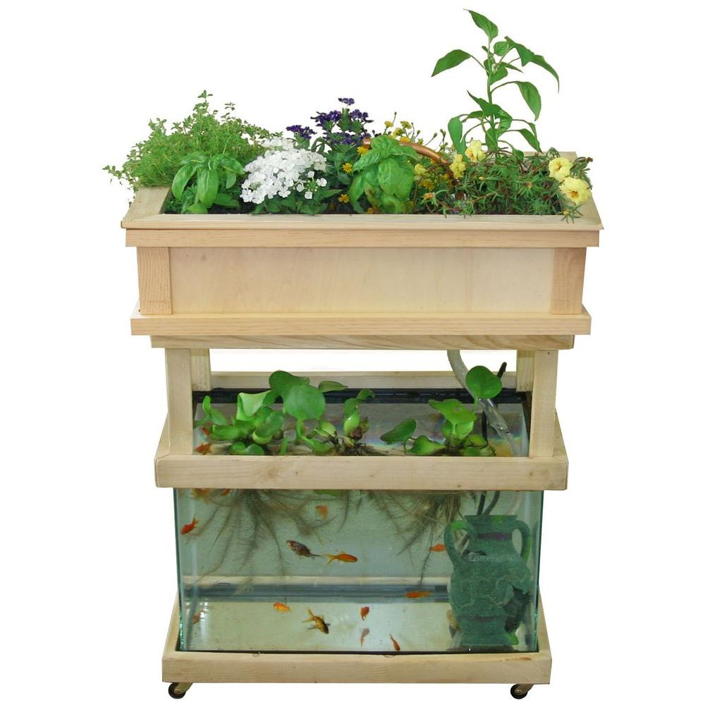 Earth Solutions Little Tokyo Aquaponics Container Gardening without a Tank-DISCONTINUED