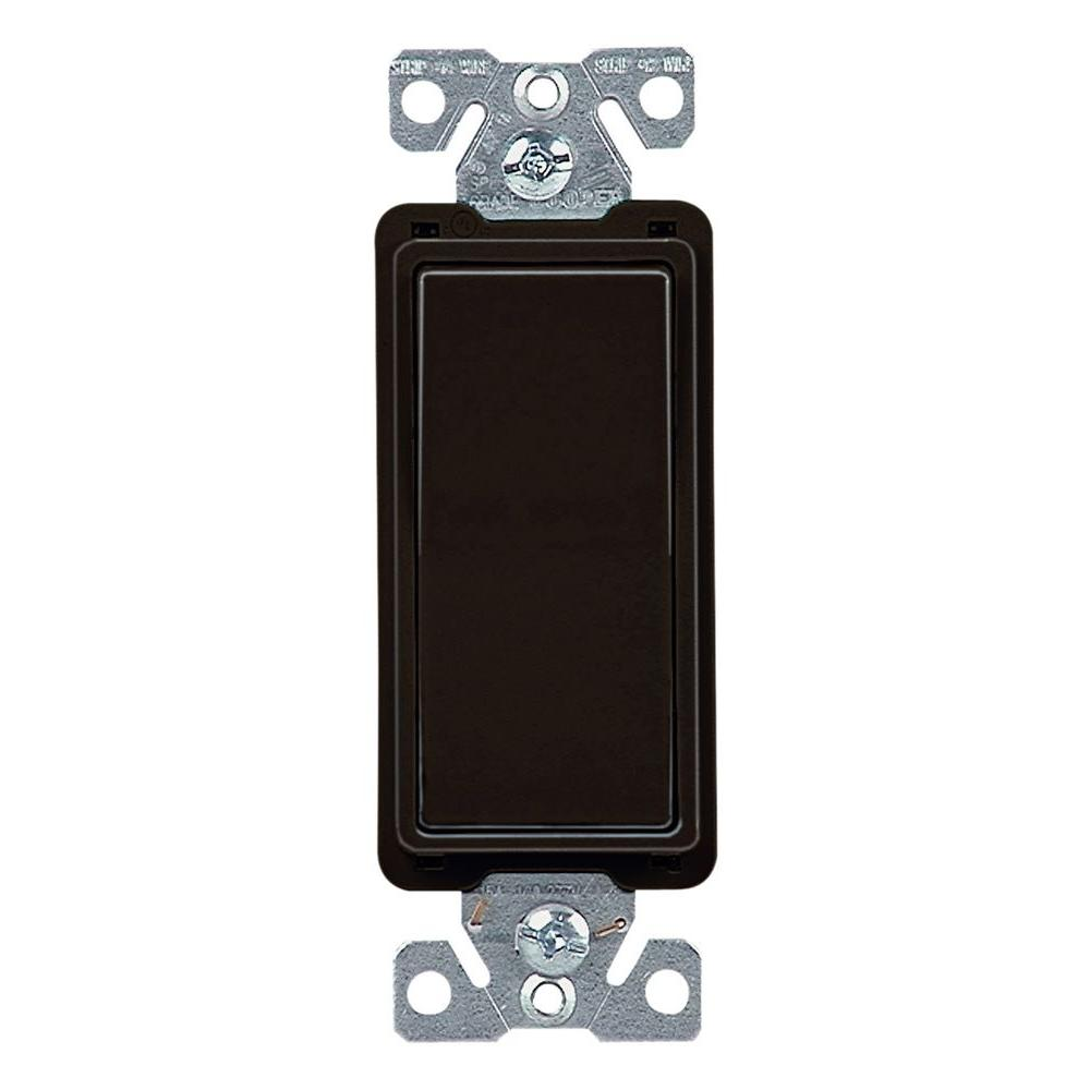 Eaton 15 Amp 4-Way Rocker Decorator Switch, Black