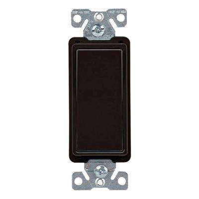 15 Amp 4-Way Rocker Decorator Switch, Black