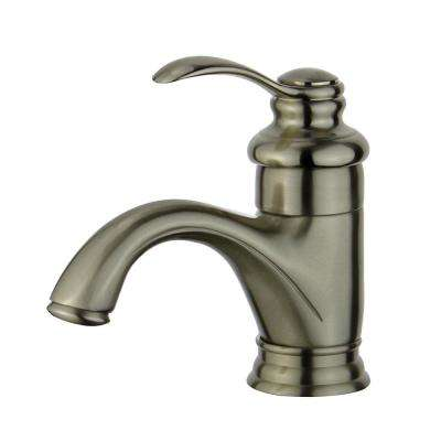 Barcelona Single Hole Single-Handle Bathroom Faucet in Brushed Nickel