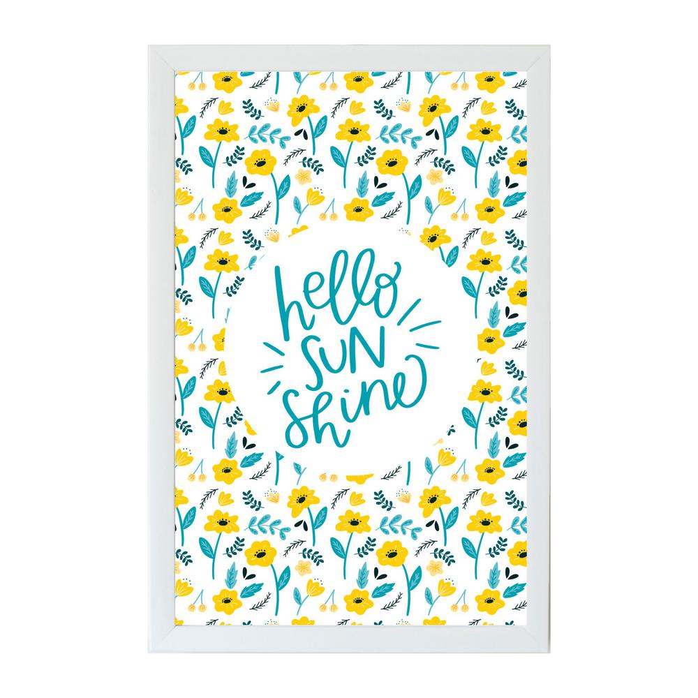 Alexa Hello Sunshine Art Board, WHITE FRAME, Magnetic Memo Board