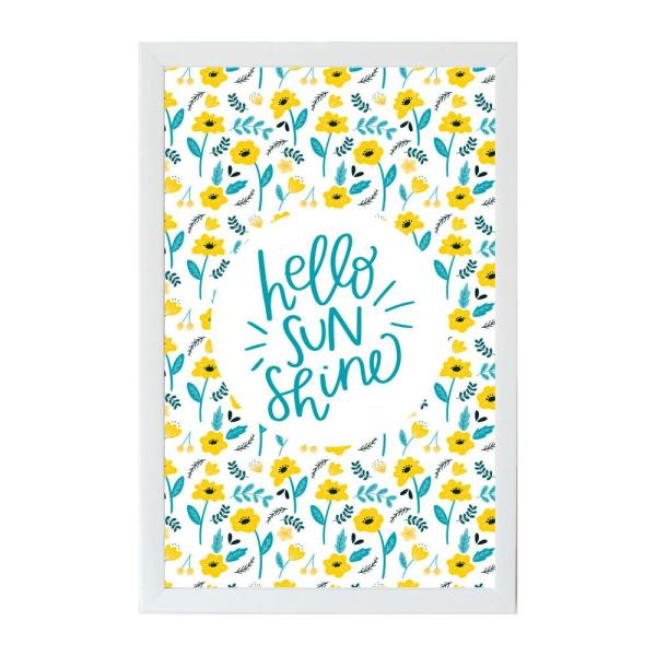 Petal Lane Alexa Hello Sunshine Art Board, WHITE FRAME, Magnetic Memo Board