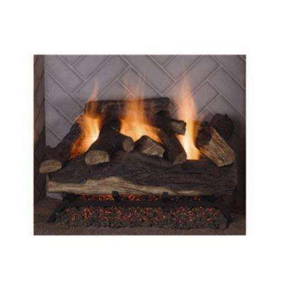 Lanier Oak 18 in. Vented Natural Gas Fireplace Logs