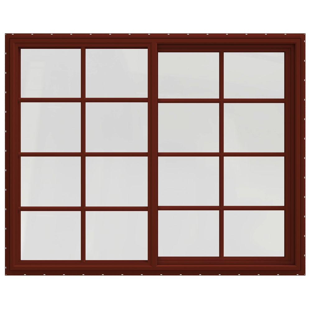 59.5 in. x 47.5 in. V-4500 Series Left-Hand Sliding Vinyl Windows