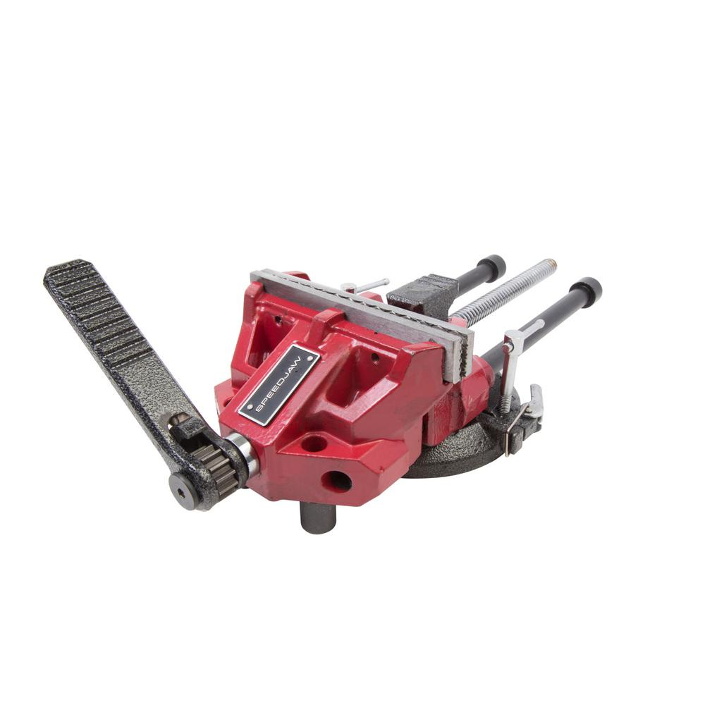 6 In Low Profile Ratcheting Bench Vise 92748 The Home Depot