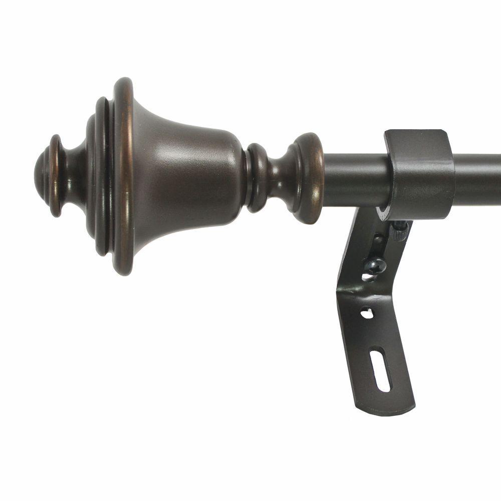 86 in. - 128 in. 5/8 in. Bell Rod Set in Vintage Bronze