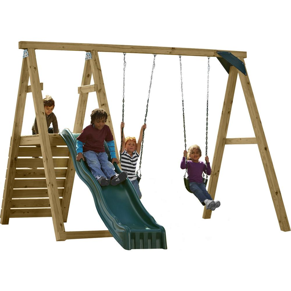 Swing-N-Slide Playsets Pine Bluff Swing Set (Just Add 4x4's and Slide)