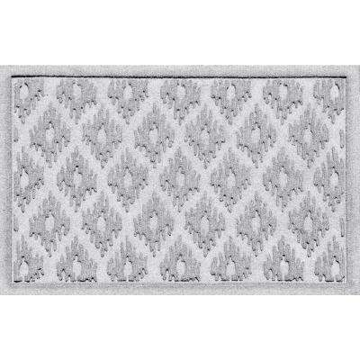 Ikat White 24 in. x 36 in. Polypropylene Door Mat