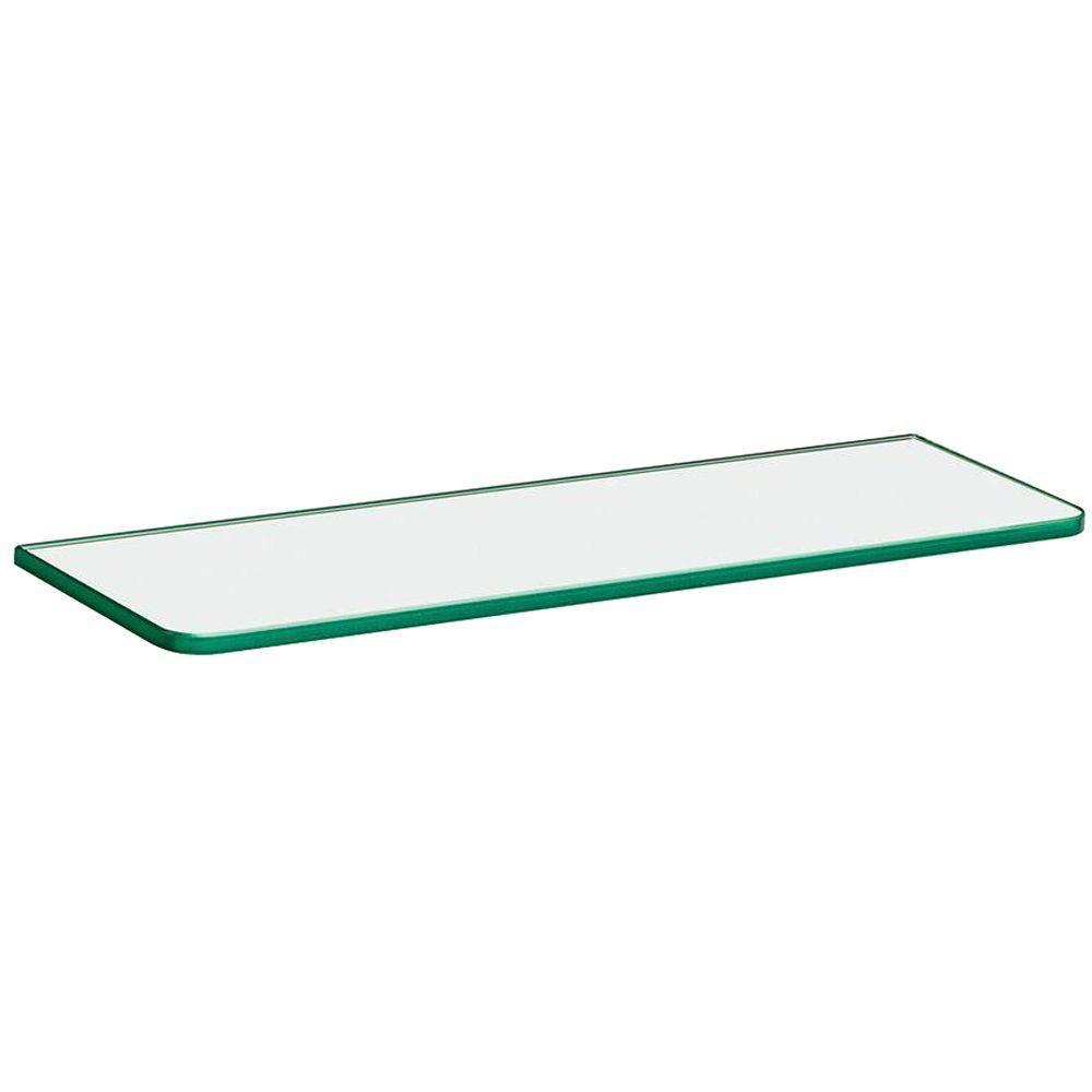 dolle 16 in x 5 16 in x 5 in standard line shelf in clear glass