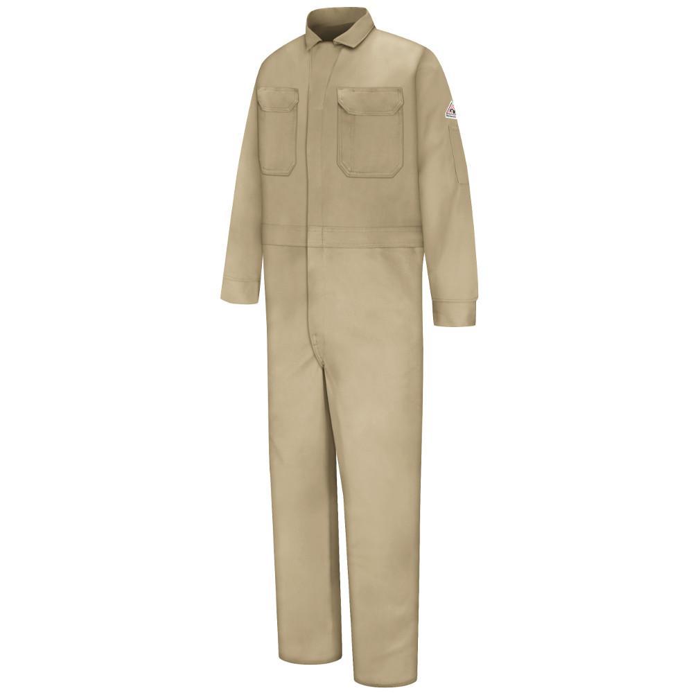 c82645e53eb9 Bulwark EXCEL FR Men s Size 52 Khaki Deluxe Coverall-CED2KH RG 52 ...