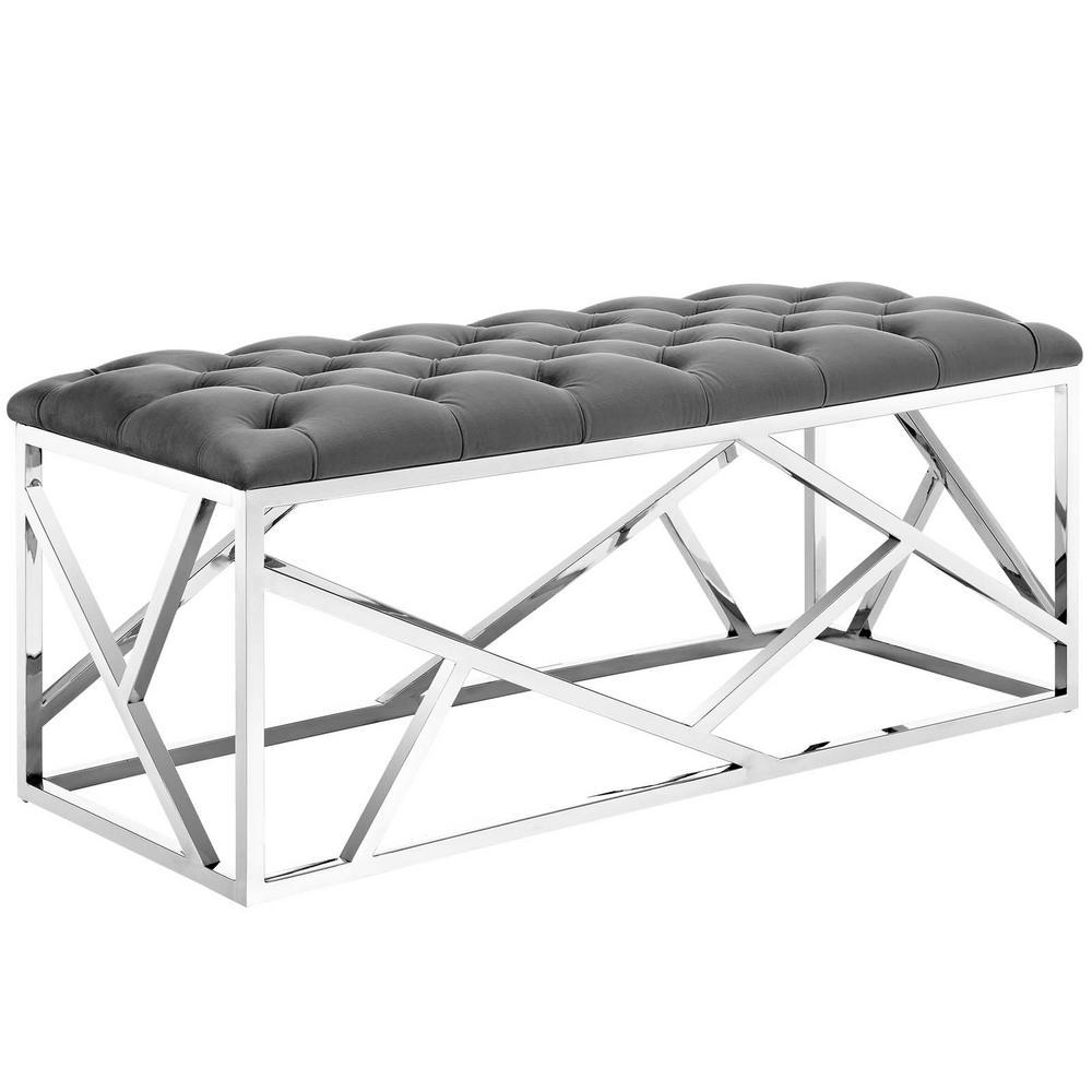 Silver Gray Intersperse Bench
