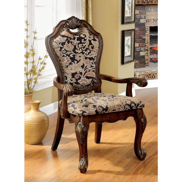 Miraculous Vicente Cherry Traditional Style Arm Chair Squirreltailoven Fun Painted Chair Ideas Images Squirreltailovenorg