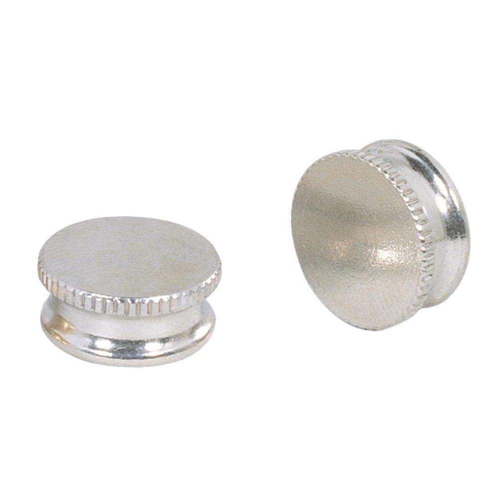 9/16 in. Nickel Lock-Up Caps (2-Pack)