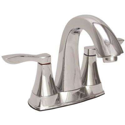 Waterfront Single Hole 2-Handle Bathroom Faucet with Pop-Up Assembly in Chrome