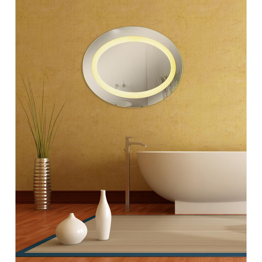 Titan Lighting Emery Hill 35 in. x 28 in. Oval Mirror-TN-891213 ...