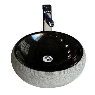 Vessel Sink in Black Granite Stone