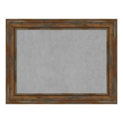 Alexandria Rustic Brown Framed Magnetic Memo Board