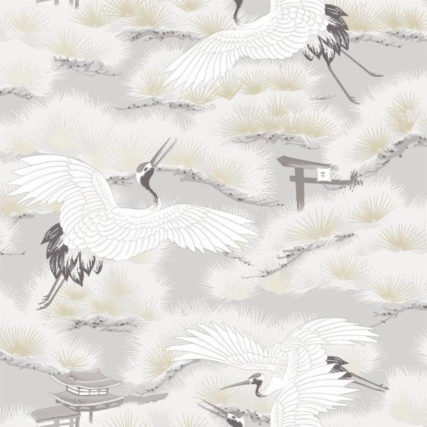 Tempaper Asian Toile Winter White Self-Adhesive Removable Wallpaper AS545