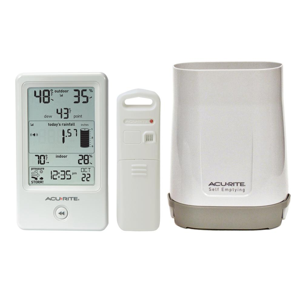 Rain Gauge with Indoor/Outdoor Temperature