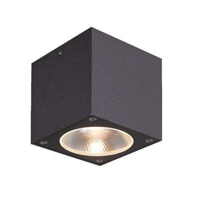 Nest Collection 1-Light Graphite Grey Outdoor LED Flush Mount