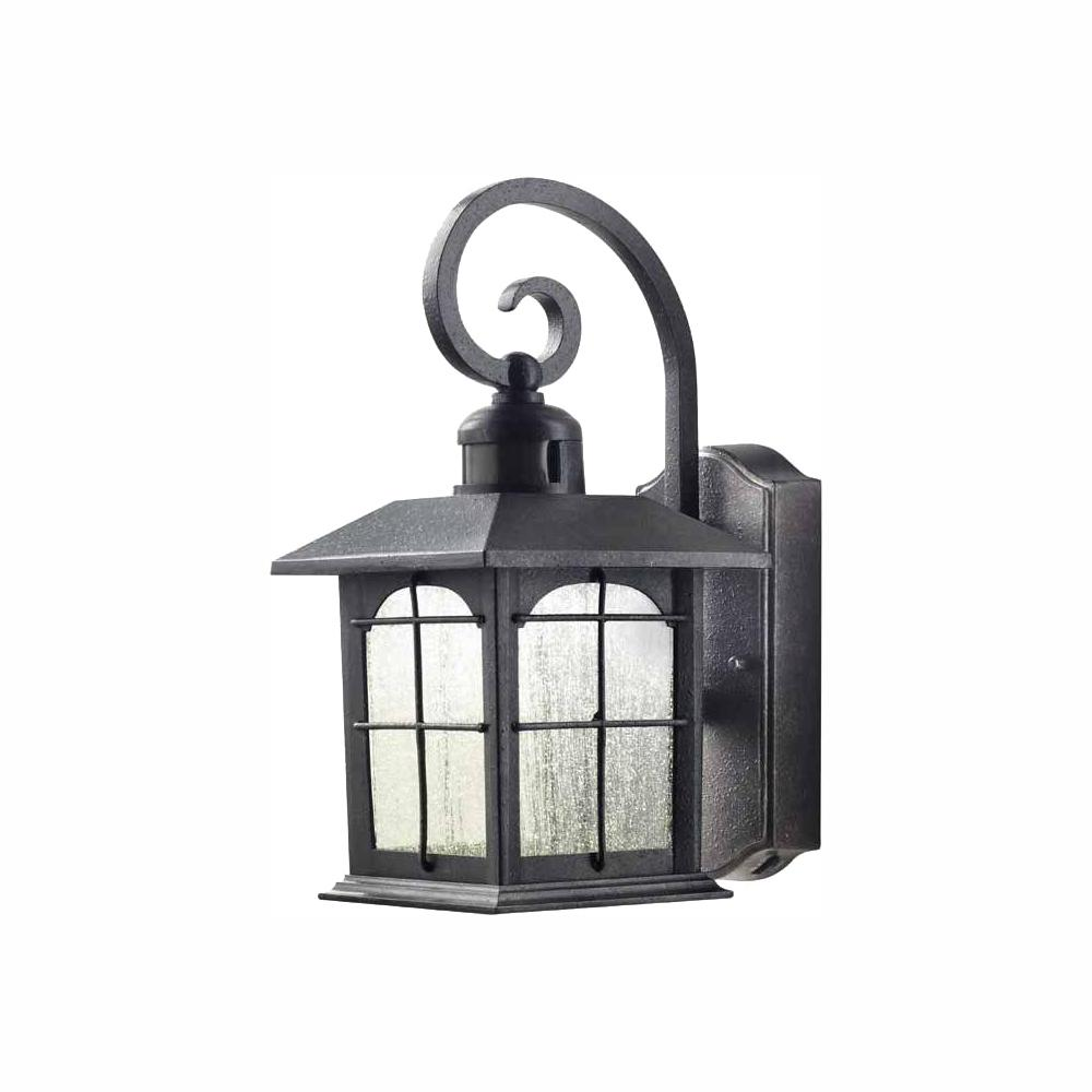 Home Decorators Collection Aged Iron Motion Sensing Outdoor LED Wall Lantern Sconce