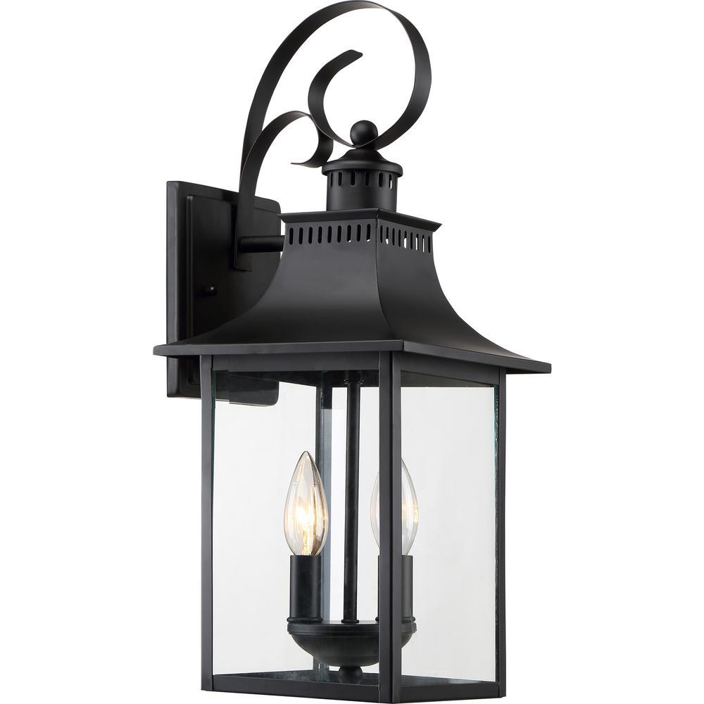 Chancellor 1-Light Mystic Black Outdoor Wall Lantern Sconce